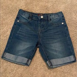 7 for All Mankind blue jean shorts